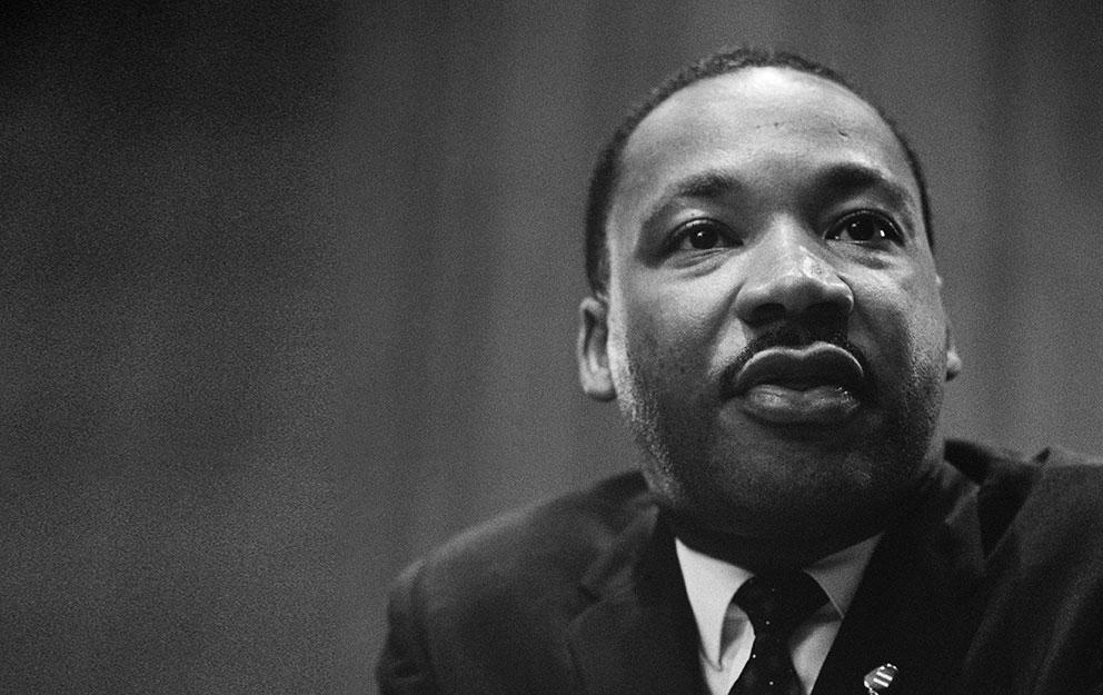 MLK at the podium